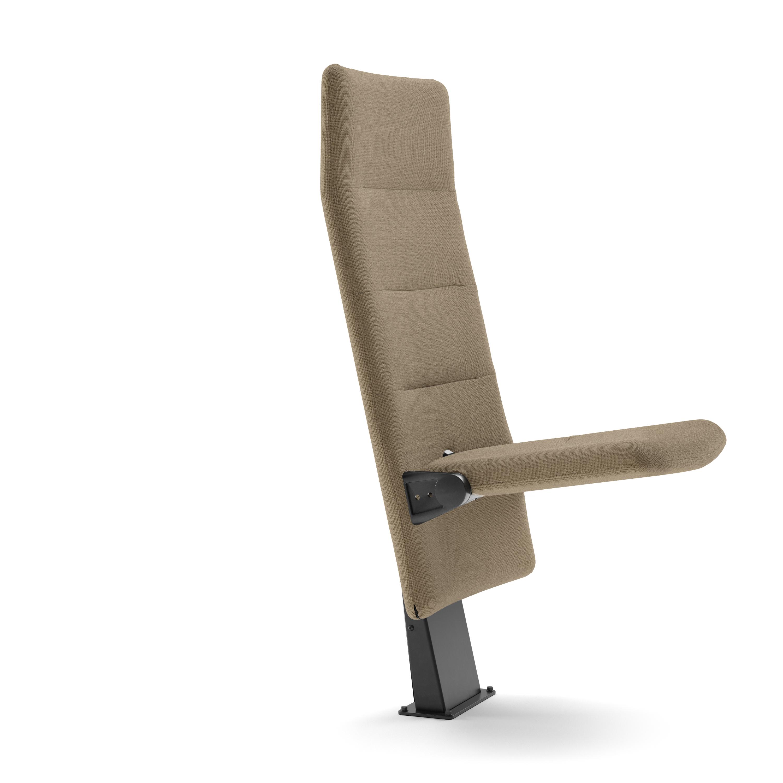 Arena auditoriestol med høy rygg og nedslått sete Fora Form
