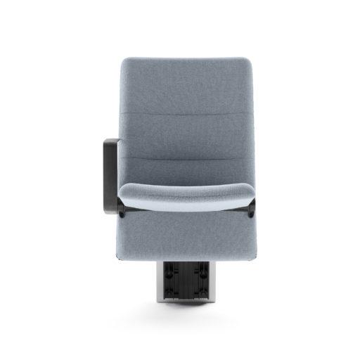 Arena auditoriestol med medium rygg armlen og nedslått sete front Fora Form