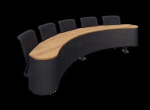 Collab Wave Single Table black mesh