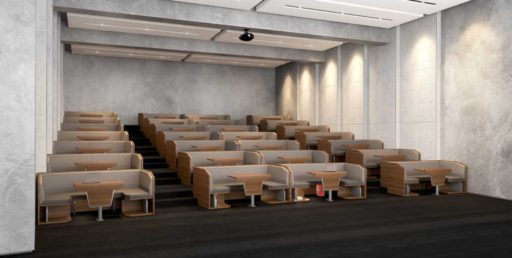 Study Pods lecture theatre seating
