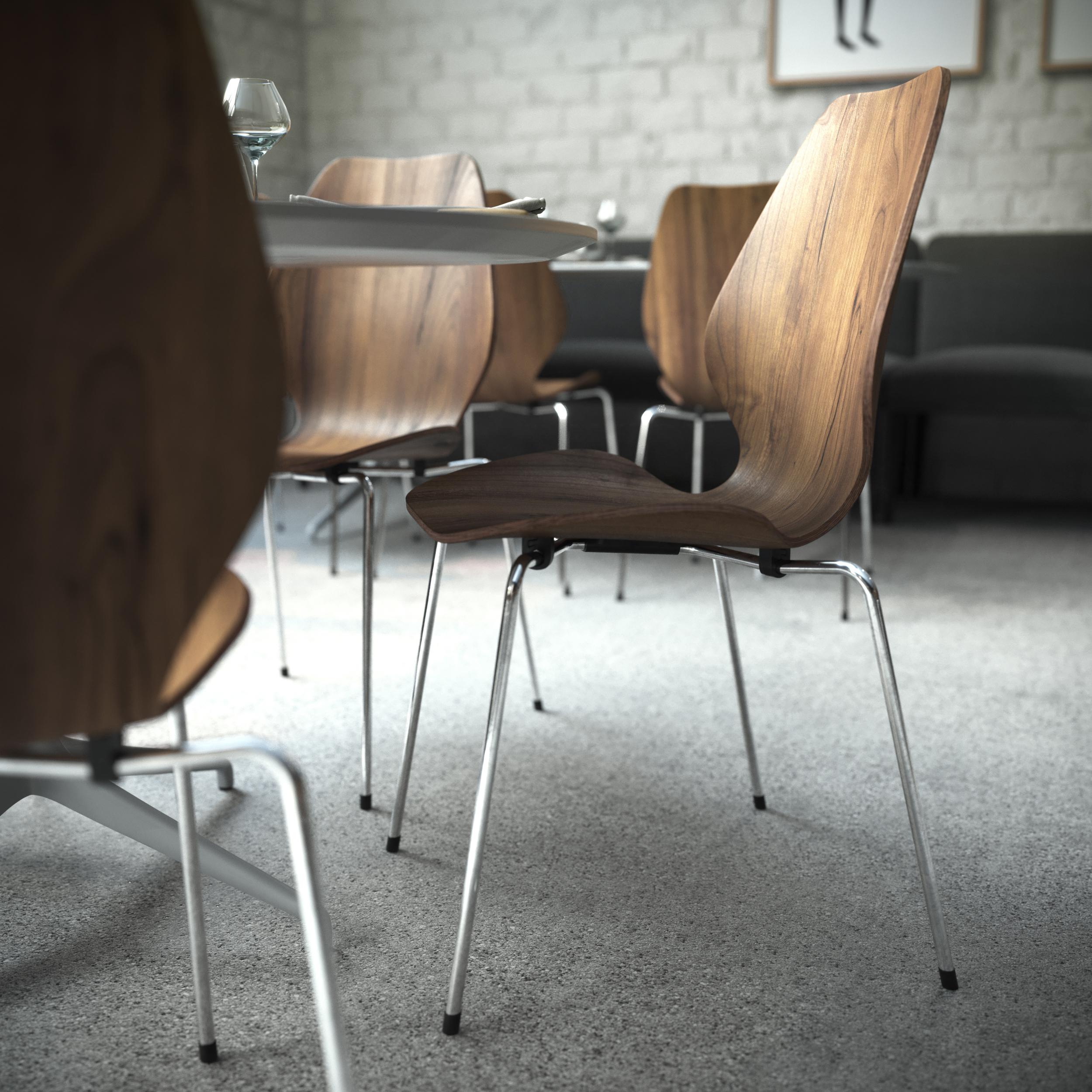 City original stol i valnøtt i en restaurant fra Fora Form