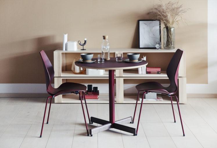 City stoler og Kvart bord i et pauserom Fora Form
