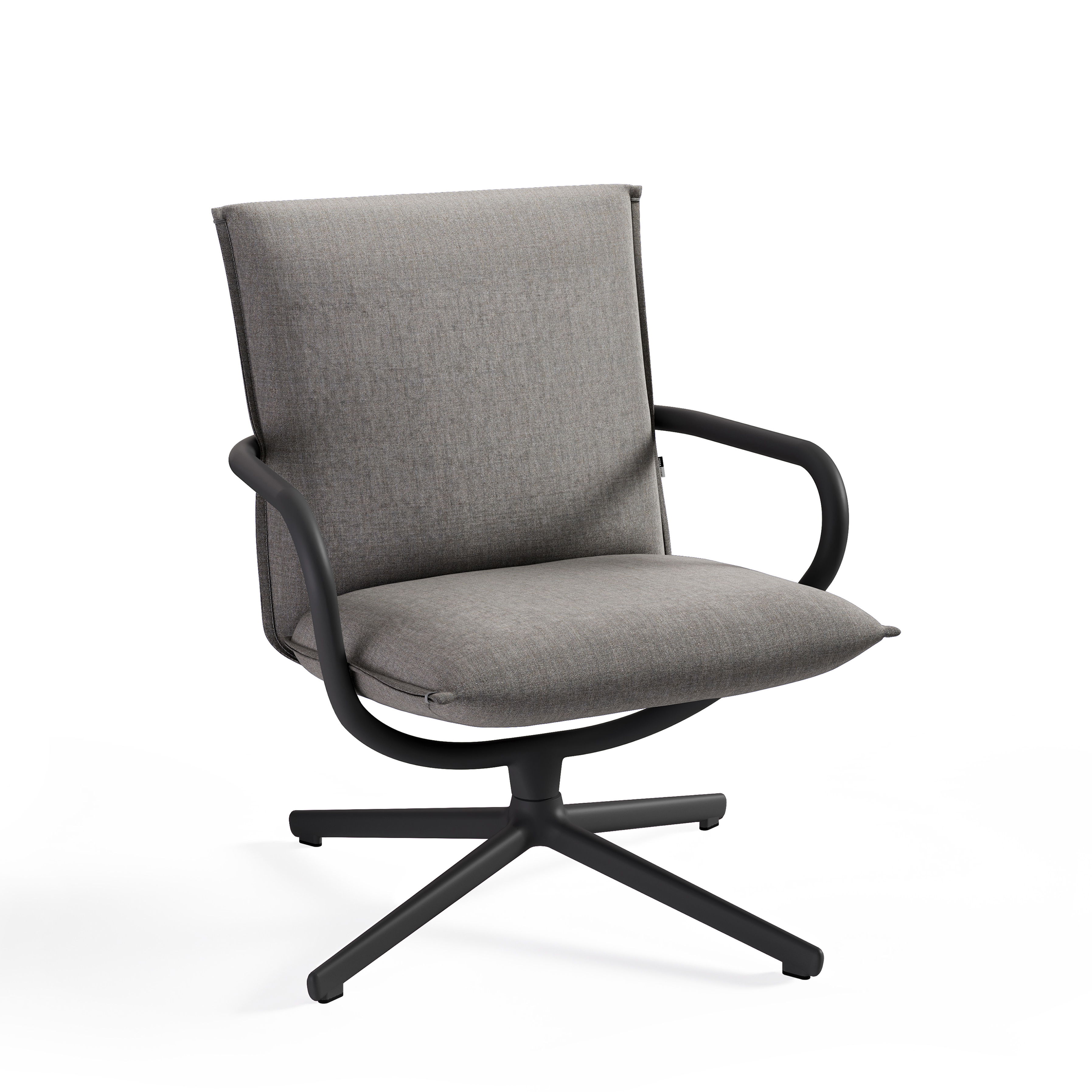 Camp stol med lav rygg i grå tekstil Fora Form