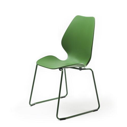 City medium grønn plast stol med meier Fora Form