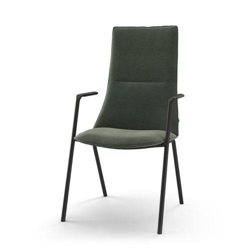 Fjell stol med armlen 4 ben og høy rygg Fora Form