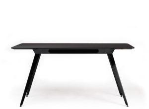Knekk aktivitetsbord med sort linoleum og sort base Fora Form