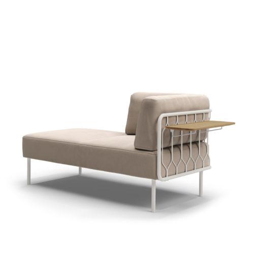 Kove 2 seter sofa med eikebord modulsofa Gandal Fora Form