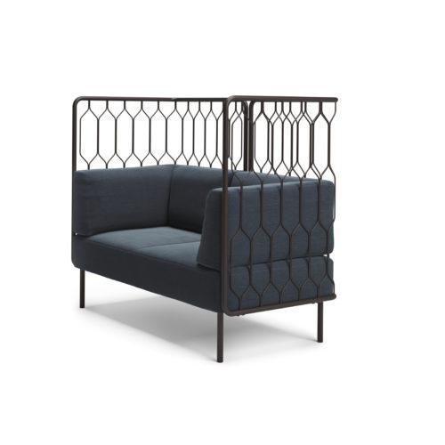 Kove 2 seter sofa med høy rygg modulsofa Fora Form