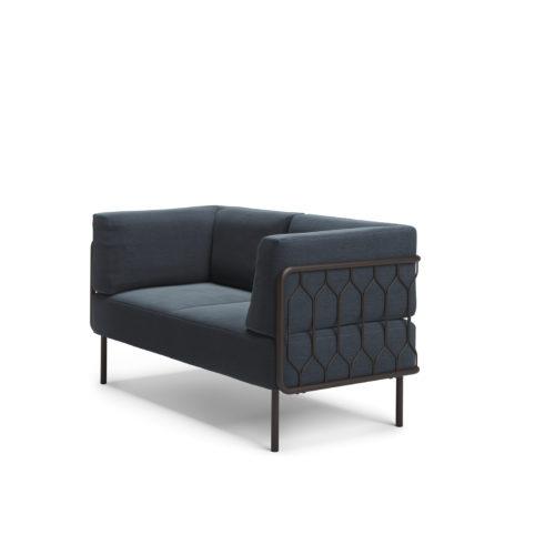 Kove 2 seter sofa med lav rygg modulsofa Fora Form