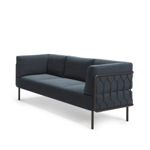 Kove 3 seter sofa med lav rygg modulsofa Fora Form