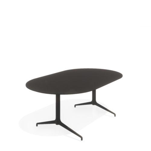 Kvart konferansebord 200x120 Ovalt Fora Form
