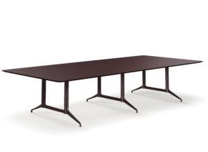 Kvart Konferansebord 360x160 Linoleum Burgundy 4154 Fora Form