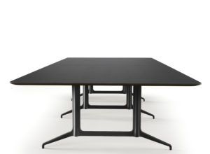 Kvart bord 360x160 Linoleum Charcoal 4166 Fora Form