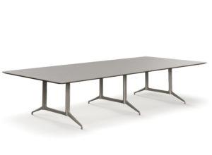 Kvart møtebord 360x160 Linoleum Pebble 4175 Fora Form