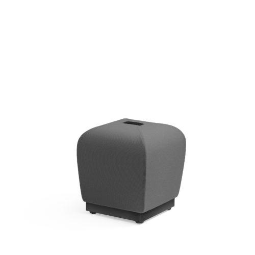 Misto puff med sort bærestropp og base Fora Form