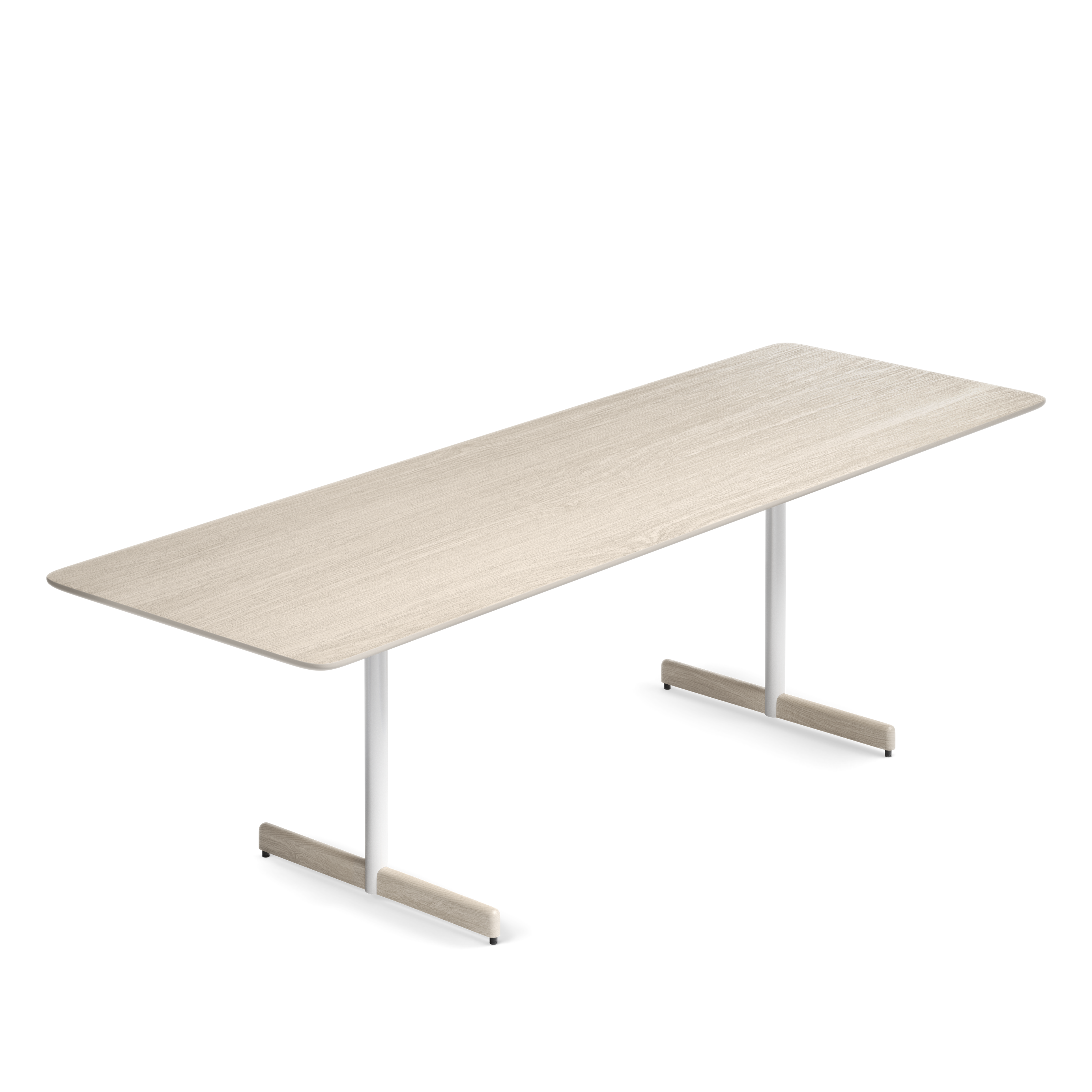 Myk bord 240x80 cm hvitvasket eik Fora Form