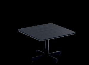 Myk bord 80x80 H52 sort sofabord Fora Form