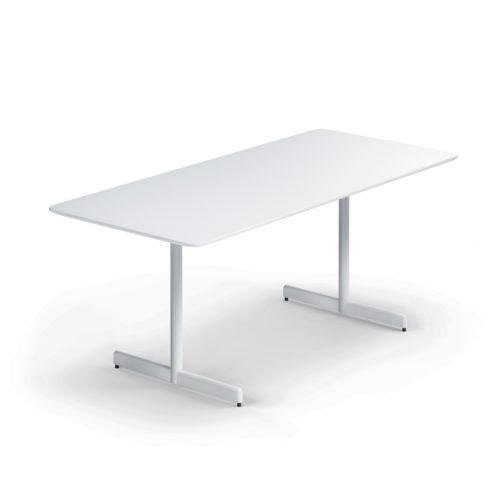 Myk bord 180x80 cm hvit laminat Fora Form