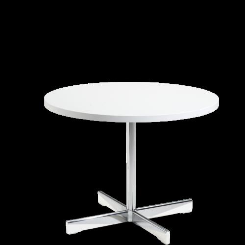 Planet bord hvit Ø70 hvite tredetaljer Fora Form