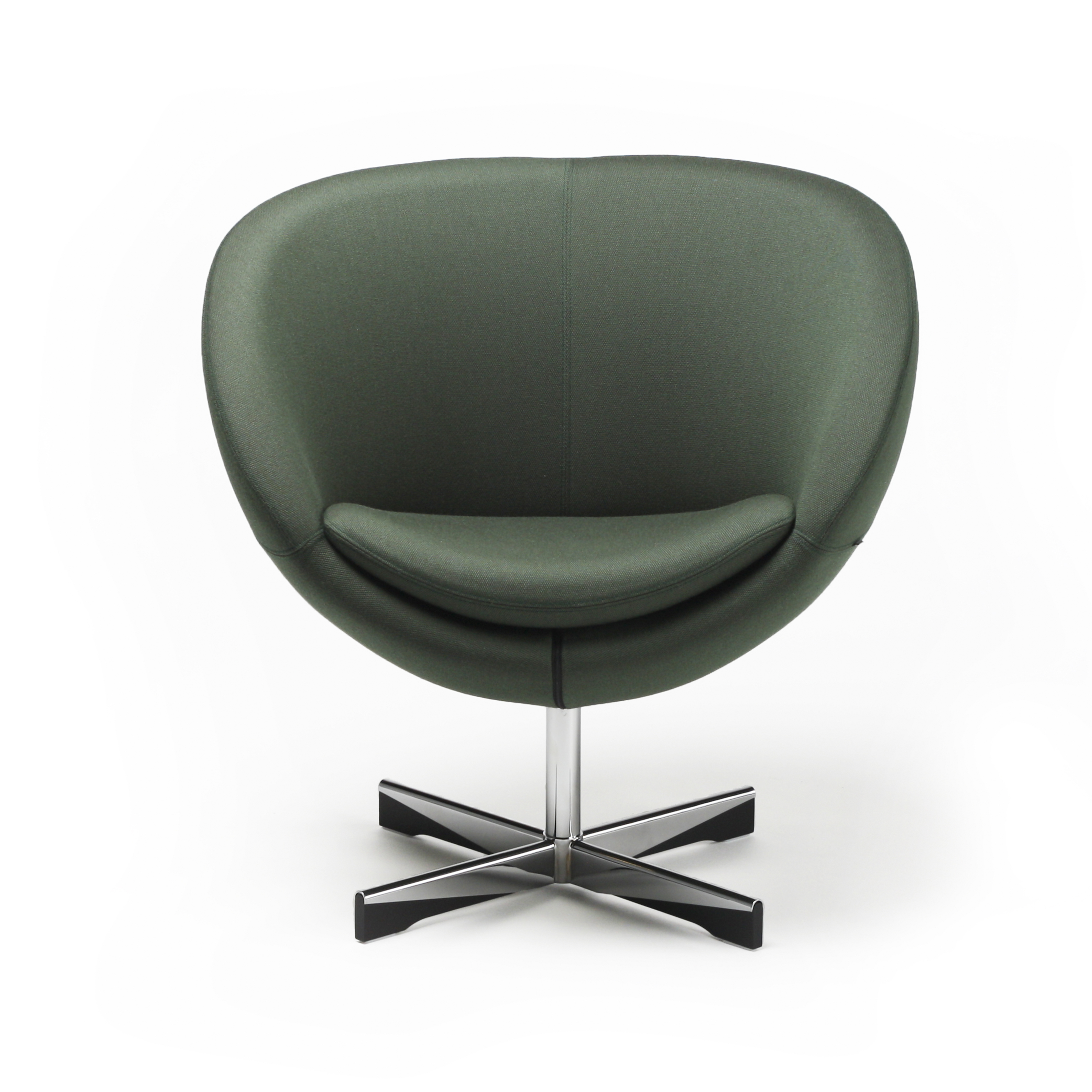 Planet stol i grønn tekstil fra Fora Form