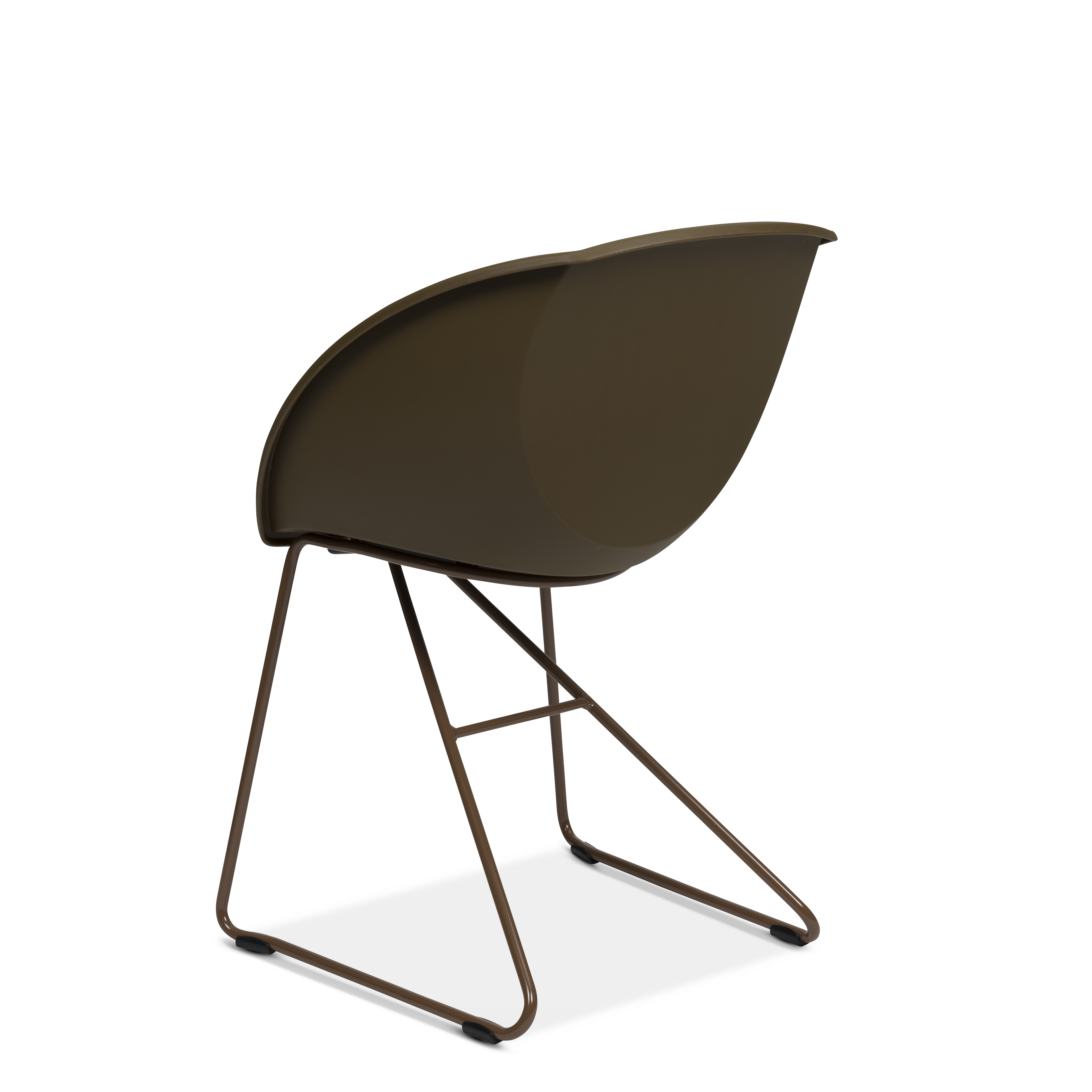 Popcorn stol i brun gjenvunnet plast fra Fora Form