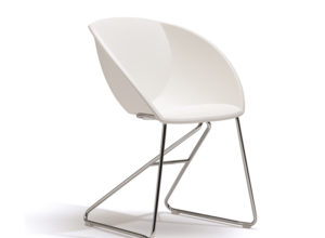 Popcorn hvit plast stol Fora Form