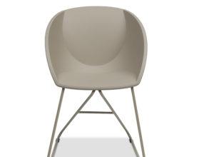 Popcorn stol i beige gjenvunnet plast Fora Form