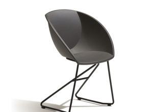 Popcorn stol i mørk grå Fora Form