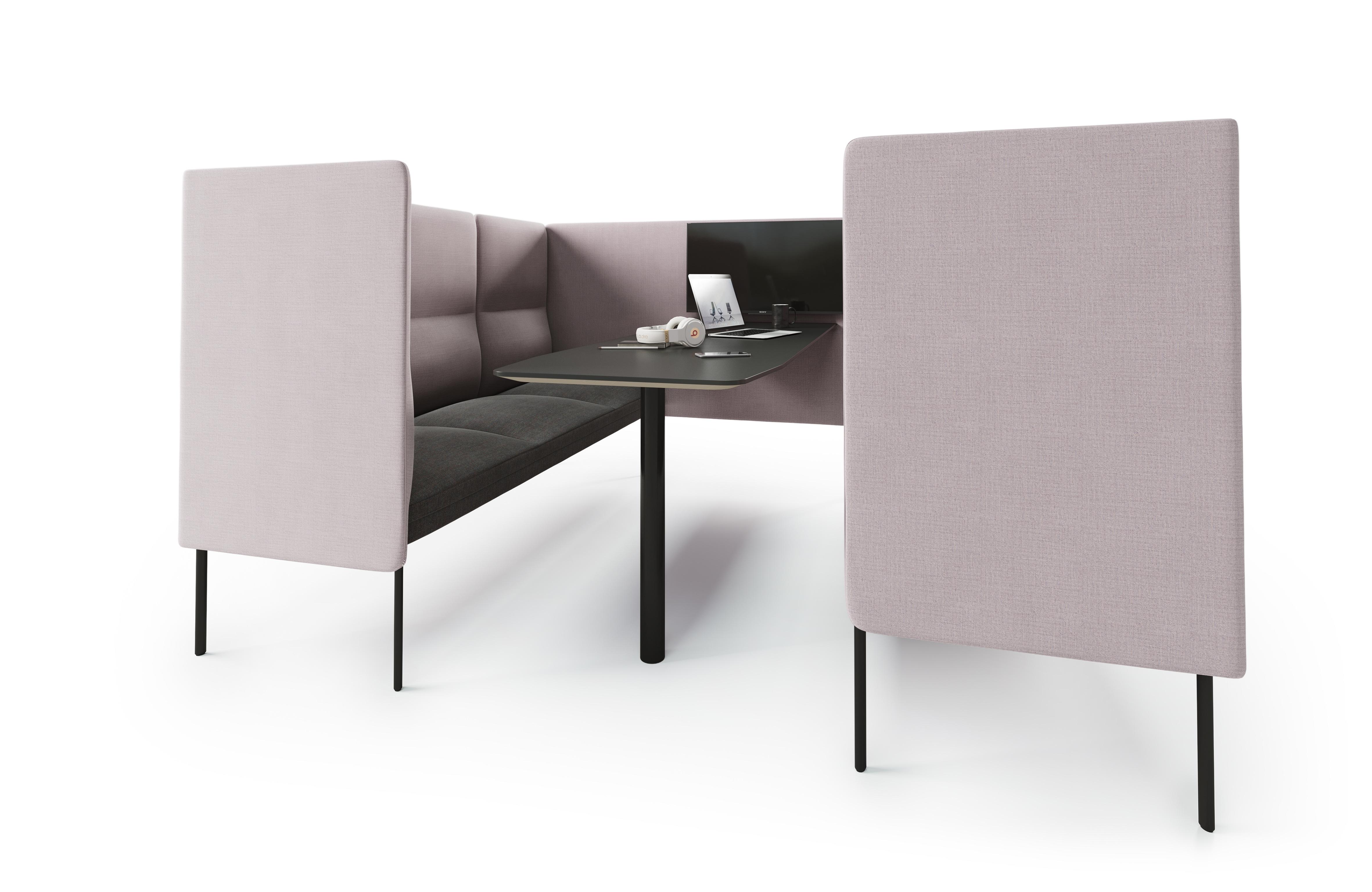 Senso Alkove 2x3 seter med sort bord Fora Form