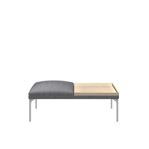 Senso 2 seter modul med eikebord og stål ben Form