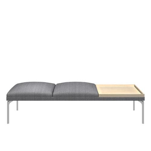Senso 3 seter modul med eikebord og stål ben Form