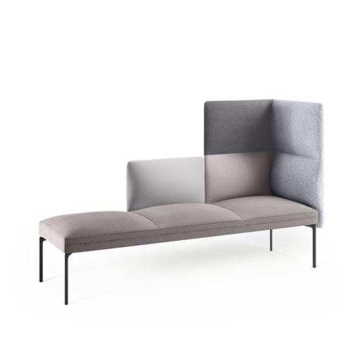 Senso 3 seters hjørnesofa i grå tekstiler fra Fora Form