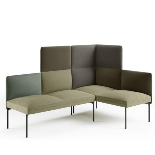 Senso 4 seters hjørnesofa i grønne tekstiler fra Fora Form