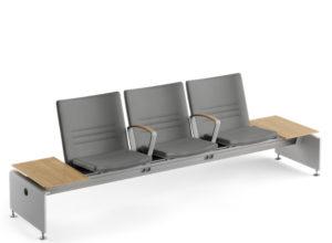 Transeat 3 seter med sidebord i heltre eik Fora Form