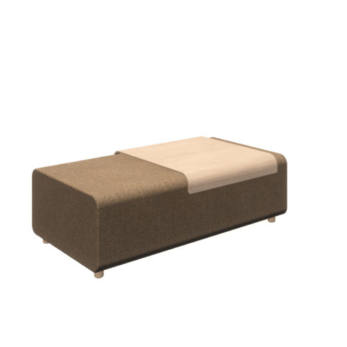 Up wide ottoman table